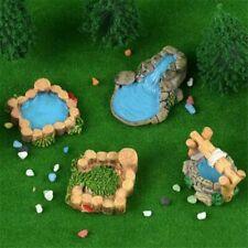 Miniature Dollhouse FAIRY GARDEN Decor Resin Water Well Pool DIY Landscape Craft