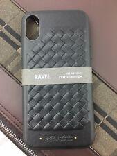 Santa Barbara POLO & RACQUET CLUB iPhone X/XS TPU/étui en cuir de polyuréthane, RAVEL Noir