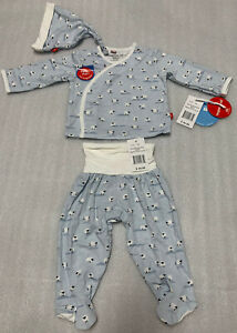 Magnetic Me Baa Baa Baby Blue Modal Magnetic Kimono 3-pc Set. Newborn 5-8lbs