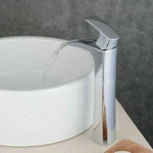 Tall Waterfall Bathroom Basin Faucet Single Handle Mixer Tap Deck Mounted