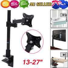 "13-27"" Single Arm Monitor LED LCD Screen VESA Display Bracket Stand Desk Mount"