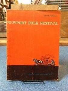 NEWPORT FOLK FESTIVAL program July 1959 1st FEST Blues Folk Americana