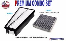COMBO Air Filter & CARBONIZED Cabin Air Filter PACK for 07 -10 TOYOTA TUNDRA V6