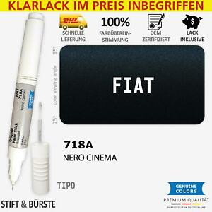 718A NERO CINEMA Lackstift für FIAT 718 A Schwarz TIPO Kratzer Stift Lackrepara