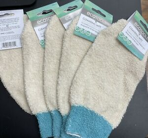 Lot Of Five (5) Ecotools Sustainable Bath & Shower Cleansing Mitt Blue