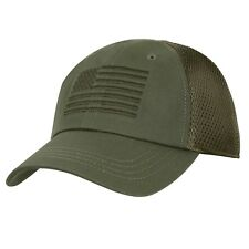 U.S. Flag Mesh Back Olive Drab Tactical Baseball Hat Embroidered Cap 5224