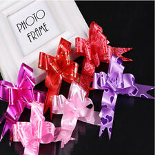 100 LARGE Ribbon Bows 30mm party decoration assorted colours pull flower ribbon