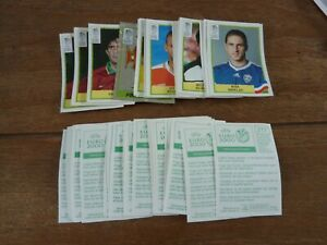 60 Panini Euro 2000 Football Stickers - VGC! All Different - Green Back Stickers