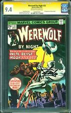 Werewolf By Night #33 CGC 9.4 Signed Stan Lee Signature! 2nd Moon Knight! L12 cm