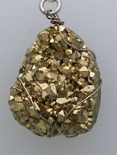 Stunning Sterling Silver and Pyrite Pendant with chain, RRP £75