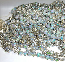 Vintage Rose Montee Beads 5mm Opaque Soft Light Blue AB Sew Ons 36 Pcs.