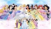 Disney Princesses Canvas Print Decor, Choose Your Size !!!