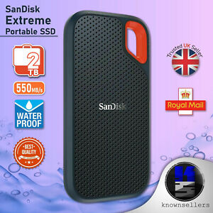 SanDisk Extreme Portable SSD 2TB Up to 550 MB/s **NEXT DAY DELIVERY**