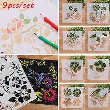 9PCS DIY Layering Stencils Painting Scrapbooking Album Embossing Template Crafts