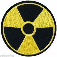 Nuclear Power Radiation Danger Megadeth Biker Tattoo Rocker Iron on Patch #1350