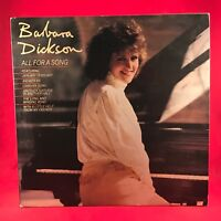 BARBARA DICKSON All For A Song 1982 UK vinyl LP EXCELLENT CONDITION