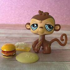 100% AUTHENTIC Littlest Pet Shop LPS #485 Brown Monkey w Accessories