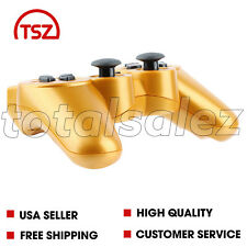 For Sony Playstation 3 PS3 Gold Wireless Bluetooth Video Game Controller