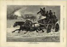 1878 Firemen Horse-drawn Engine Galloping To The Fire Of Menton Manor