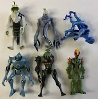 Ben 10 Alien Action Figure Bandai Lot 2006 2007 2008 2010 Ripjaw Nanomech Vilgax