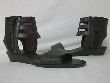 Via Spiga 6 M Patrice Black Leather Gladiator Sandals New Womens Shoes NWB