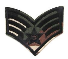 Camouflage Sergeant Stripes Army Iron On Patch-  Military Soldier Badge Sew