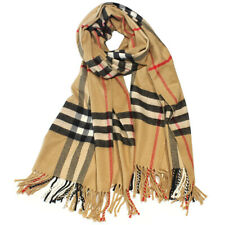 Women Men Blanket Oversized Winter Tartan Cashmere Scarf Wrap Shawl 28