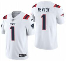 Cam Newton #1 New England Patriots Men's White Limited Jersey