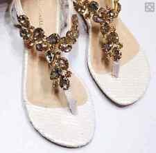 NWOB ANTHROPOLOGIE Raphaella Booz Ivory Snakeskin Sandals