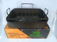"Calphalon Warm Welcomes ZFP6816 16"" x 13"" Roasting Pan with Rack - Good"