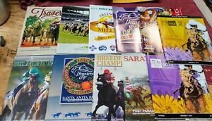 Lot of 11 Horse Racing Programs 1990's through 2010's - All Different
