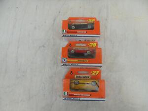 3 x Matchbox Mattel Wheels OVP ungeöffnet, Ferrari F40, Ferrari F50, Ferrari