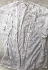 Forever 21 white embroidered kimono Size Medium Boho Hippie