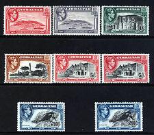 GIBRALTAR KG VI 1938-51 Pictorial Part Set SG 121 to SG 130a MINT