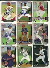 2015 Bowman Chrome FORREST WALL Signed Card auto rc ROCKIES winter park, fl
