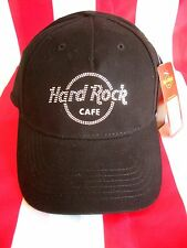 HRC hard rock cafe Mykonos Black rhinestone basecap base cap ha New NWT pedrería