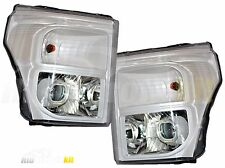 Z1 Oxford White Retrofit Headlights For 2011 up FORD SUPER DUTY F250 F350 F450