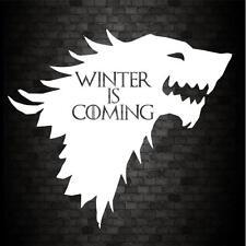 Se acerca el invierno Stark GRACIOSO PARACHOQUES Game of Thrones De Vinilo Autoadhesivo con JDM