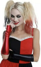 New ListingBlack Red Harley Quinn Lame Long Fingerless Gloves Costume Cosplay Hot Topic New