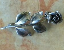 rose brooch.stamped silver. Solid silver vintage style