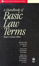 A Dictionary of Basic Law Terms (Black's Law Dictionary Series) by Bryan A. Gar