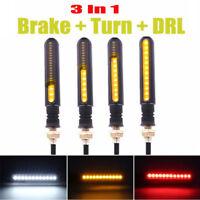4x 3 in 1 LED Fließen Blinker Motorrad Laufeffekt Lauflicht DRL Bremslicht 12VDC