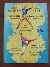1950 2nd Pythian Bowl Catawba College NC Appalachian vs W Liberty WV Football