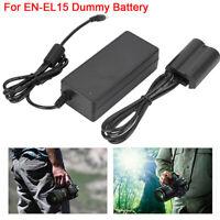 EN-EL15 Fully-Coded Dummy Battery Power Adapter for Nikon D500 D600 D610 Plastic