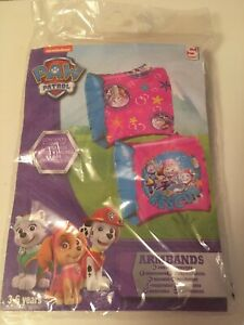 Paw Patrol Arm Bands Nickelodeon Pink And Blue Swimming Pool