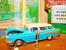 100% HOT WHEELS 1957 CHEVY NOMAD LIMITED EDITION WAGON 1/64 50'S CLASSIC