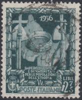 Italy Regno - 1938 Proclamazione Impero Sass. n.447  used