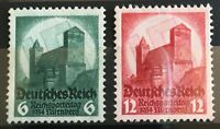 Germany 1934 3rd Reich Mi 546 - 7 Sc 442 - 3  Nuremberg Party Rally ** MNH