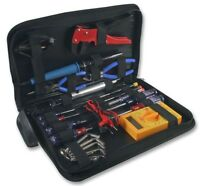 Electricians Tool Set Case Soldering Iron Multimeter Technicians Pouch Tools Kit
