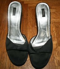 Women's Exilaration Sexy Black High  Heel Slides Sandals Shoes 7 1/2 Pre-Owned